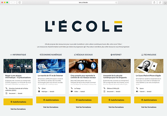 L'École TANu offers dozens of free, freemium or paid learning resources